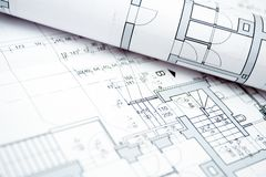 House blueprints Stock Image