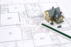 House Blueprints Royalty Free Stock Photography
