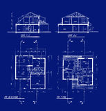 House blueprints Royalty Free Stock Photography