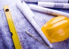 House blueprints close up Stock Image