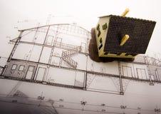 House blueprints close up Royalty Free Stock Photo