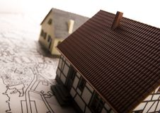House blueprints close up Royalty Free Stock Photo