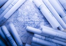House blueprints close up Stock Photography