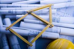 House blueprints close up Stock Images