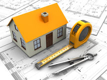 House blueprints Stock Images