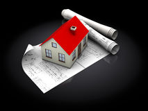 House blueprints Royalty Free Stock Image