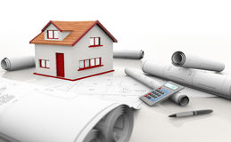 House blueprints Royalty Free Stock Photo