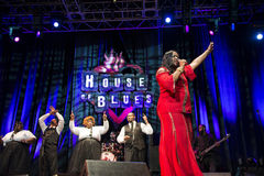 House of Blues Gospel. Famous House of Blues Gospel group performing at Orlando, Florida Royalty Free Stock Photography