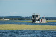 House Boat. Floating summer home royalty free stock photo
