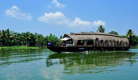 House boat in alleppey,alleppey is a gods own country stock photography