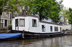 House boat in Amsterdam Royalty Free Stock Photography