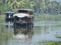 House boat on the backwaters of Kerela India stock photos