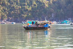 House-boat in Ha Long Bay, Vietnam Stock Images