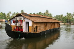 House boat,kerala. House boat in kerala back waters Stock Photos