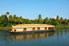 House boat on Kerala backwaters Stock Photography