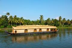 House boat on Kerala backwaters stock photography