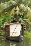 House-boat on Kerala backwaters royalty free stock photo
