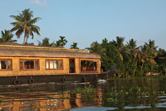 House boat on Kerala backwaters, Royalty Free Stock Image