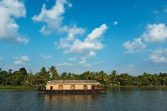 House boat on Kerala backwaters Royalty Free Stock Images