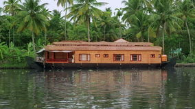 House boat in Kerala Backwaters Stock Photography