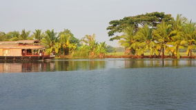 House boat in Kerala Backwaters Royalty Free Stock Photo
