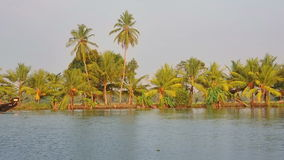 House boat in Kerala Backwaters Royalty Free Stock Images