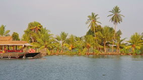House boat in Kerala Backwaters Stock Images