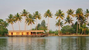 House boat in Kerala Backwaters Stock Image