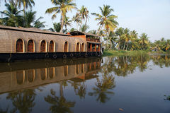 House boat in the Kerala (India) Backwaters Royalty Free Stock Photography
