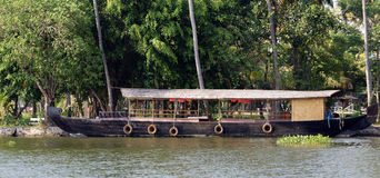 House boat in the Kerala (India) Backwaters Royalty Free Stock Image