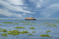 House boat in the Kerala (India) Backwaters Stock Photos