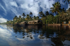 House boat in the Kerala (India) Backwaters Royalty Free Stock Photo