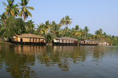 House boat in the Kerala (India) Backwaters Royalty Free Stock Photos