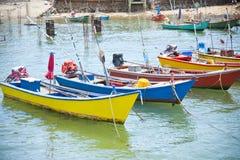 House and boat at Kho Lan, Pattaya, Thailand. Royalty Free Stock Photos