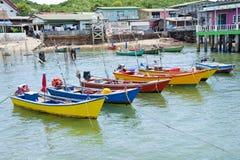 House and boat at Kho Lan, Pattaya, Thailand. Stock Photo