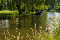 House boat on the river. Guildford. Surrey. stock photography