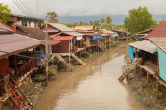 House boat river in Thailand. House boat on and river in Thailand Stock Photography
