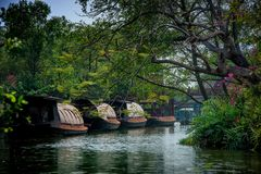 House boat in Thailand. Used to carry rice. House boat in Thailand. Used to carry rice in the olden days Stock Image