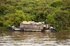House Boat On Thonle Sap Stock Photos