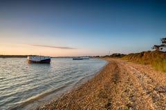 House Boats at Bramble Bush Bay Royalty Free Stock Photo