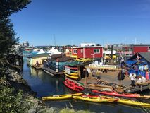 House boats. Houseboats at Victoria fisherman's wharf Stock Images