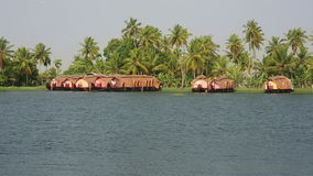House boats in Kerala Backwaters Stock Photo