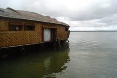 House boats in kerala stock photos