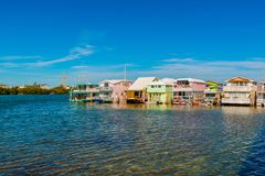 House Boats in Key West Florida USA stock photography