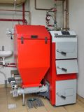 House boiler room Stock Photos