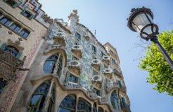 House of Bones in Barcelona. Casa Batllo building by Gaudi in Barcelona, Spain Royalty Free Stock Photos