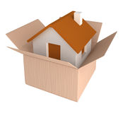 House in a box Royalty Free Stock Photos