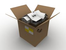 House in a box Stock Photo