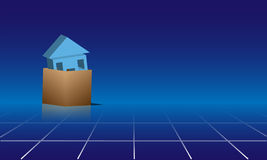House in Box Royalty Free Stock Images