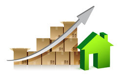 House and box graph Royalty Free Stock Photography